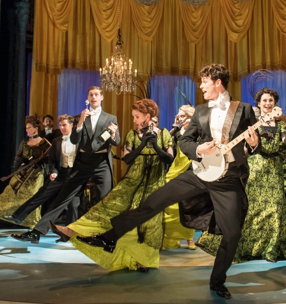 6. HALF A SIXPENCE Charlie Stemp 'Arthur Kipps' & the Company. Photo by Manuel Harlan